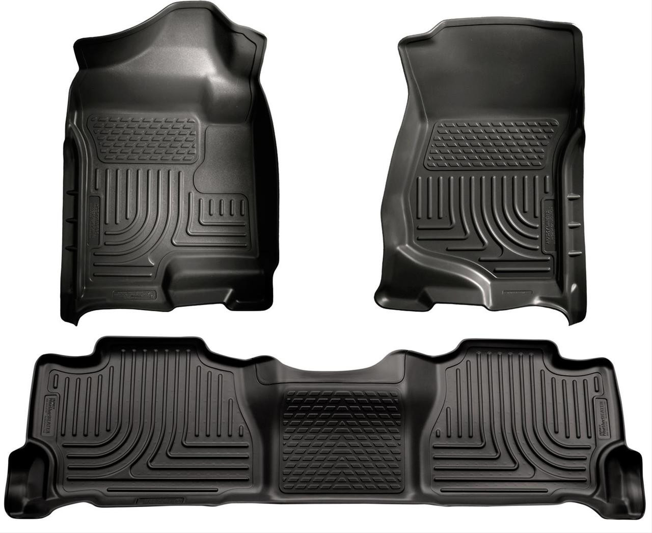 07-14 ESCALADE/TAHOE/YUKON(NOT HYBRID)W/2ND ROW BUCKET FRONT & 2ND SEAT FLOOR LINER BLACK