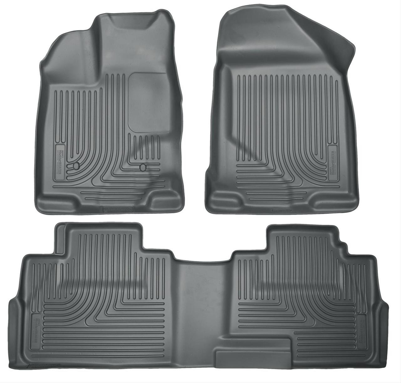 07-14 EDGE 07-15 MKX FRONT/2ND SEAT LINERS WEATHERBEATER GREY