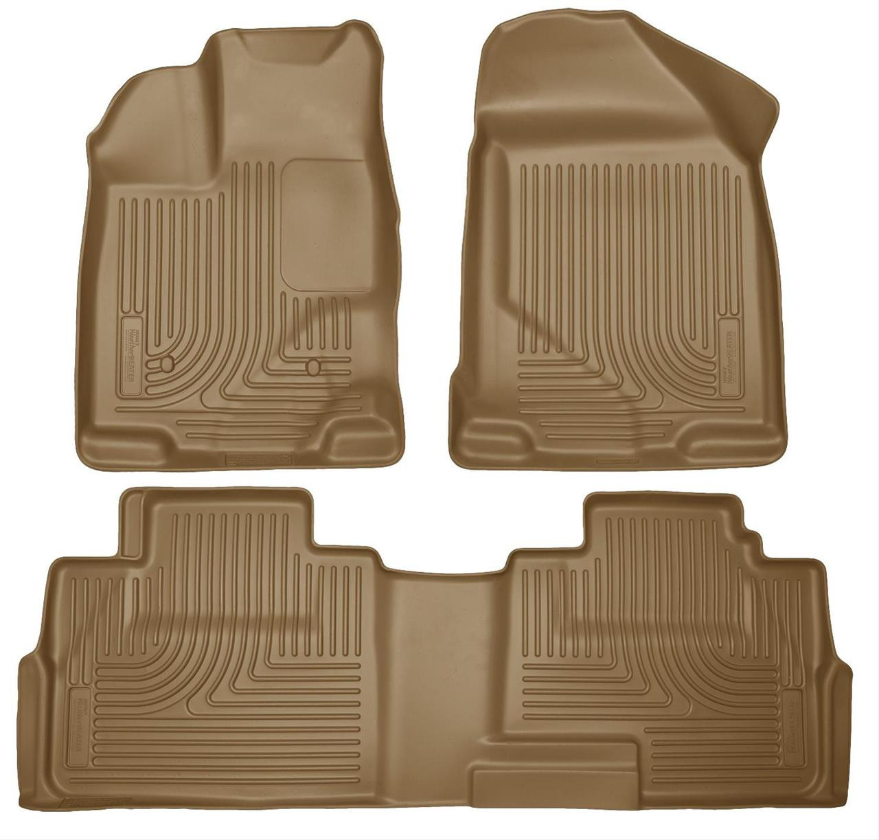 07-14 EDGE 07-15 MKX FRONT/2ND SEAT LINERS WEATHERBEATER TAN