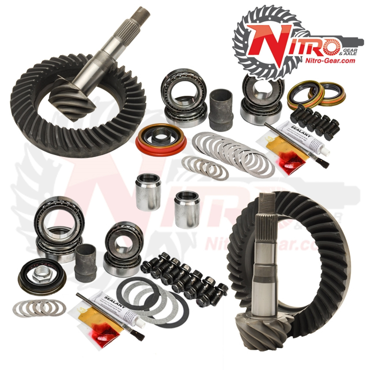 03-09 Toyota 4Runner FJ Hilux Tacoma E-Lock 4.30 Ratio Gear Package Kit Nitro Gear and Axle