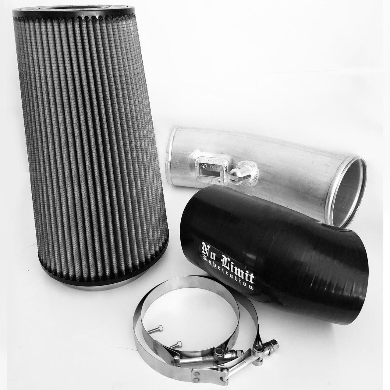 67 Cold Air Intake 11 16 Ford Super Duty Power Stroke Raw Dry Filter Stage 1 No Limit Fabrication