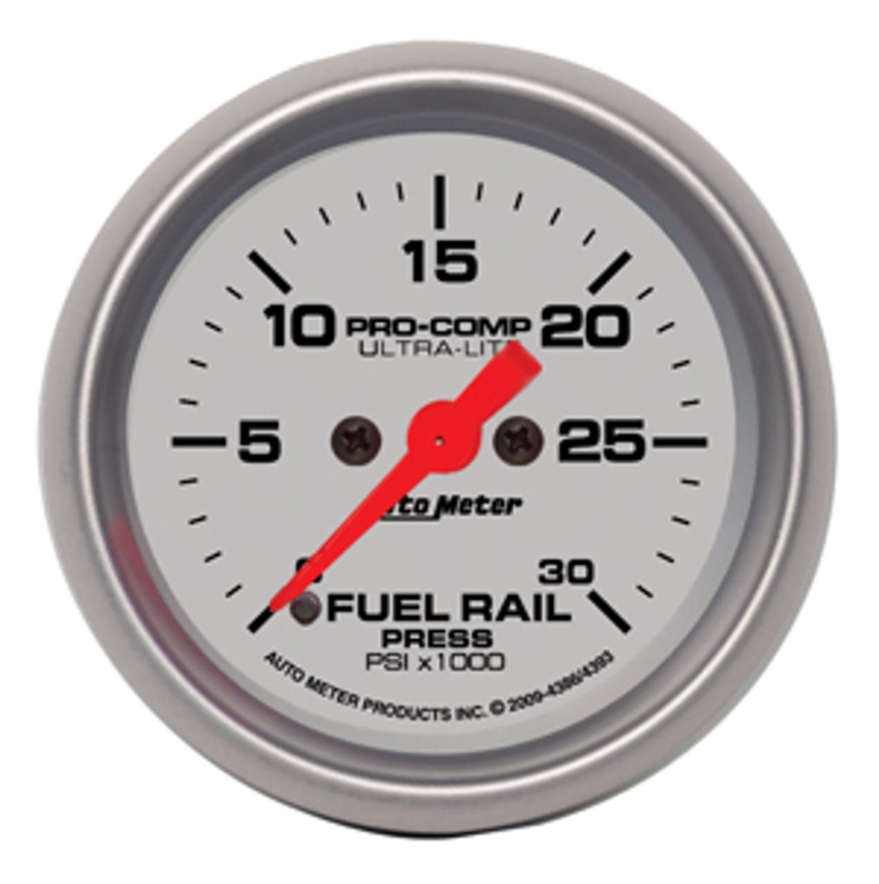 Autometer 2-1/16in Rail Press Rail Pressure Guage  0 to 30,000 psi