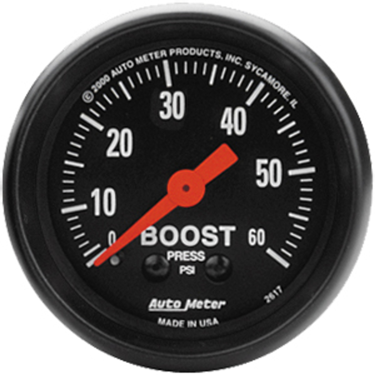 Autometer Z-Series Boost, 0-60 Psi, Mech 2In.