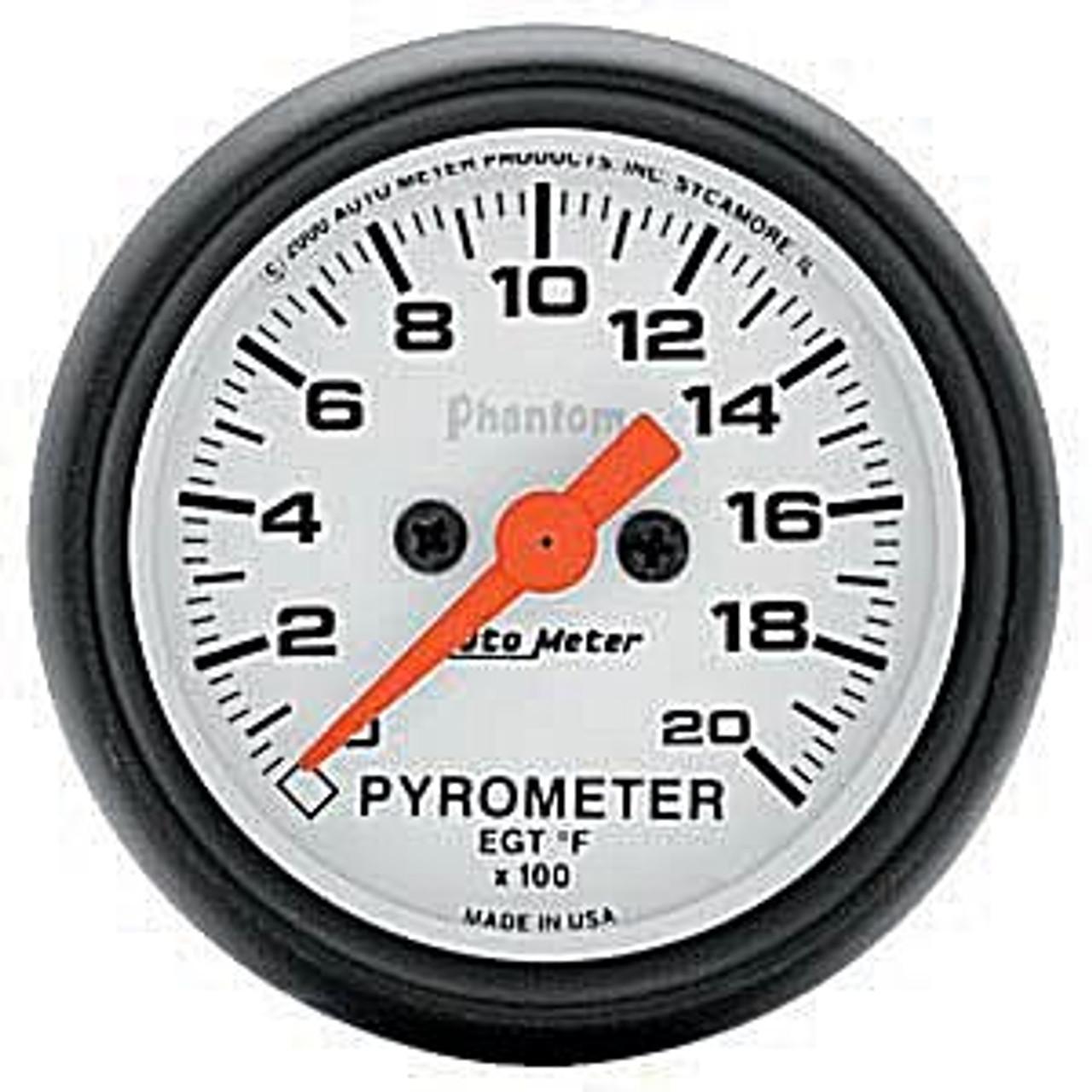 Autometer Phantom E.G.T. Kit 0-2000`F, Full Sweep Street 2In.
