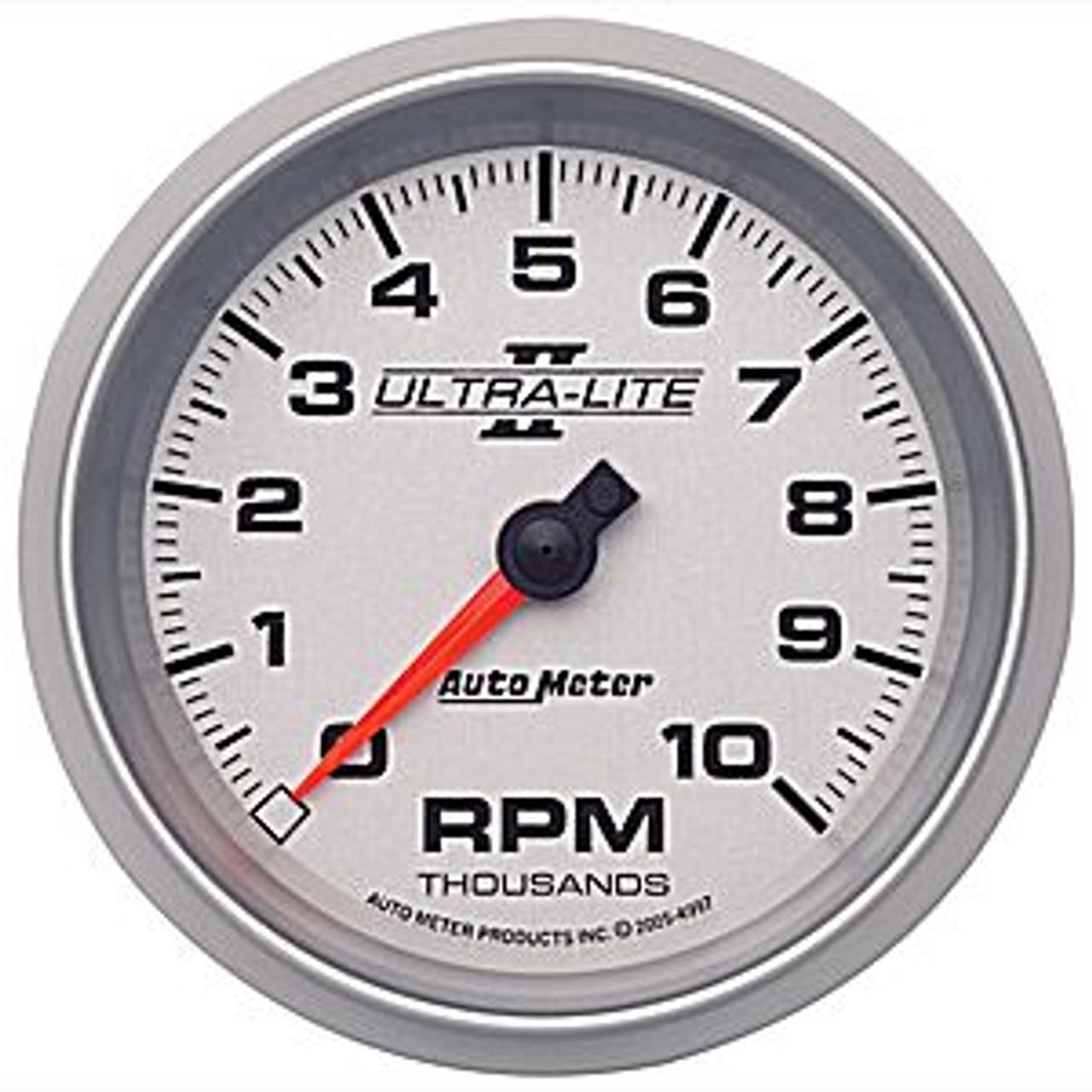 Autometer Ultra-Lite 2 Tach In-Dash 10000 Rpm E 3-3/8In.