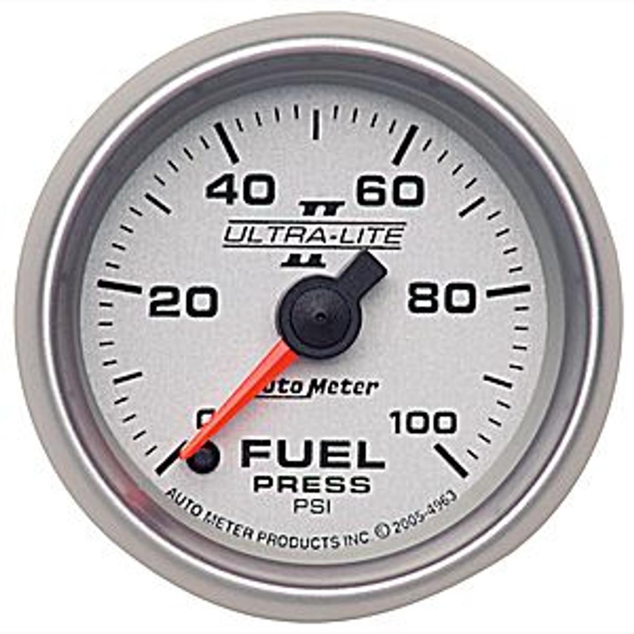 Autometer Ultra-Lite 2 Fuel Press 0-100 Psi, (Fs) E 2-1/16In.