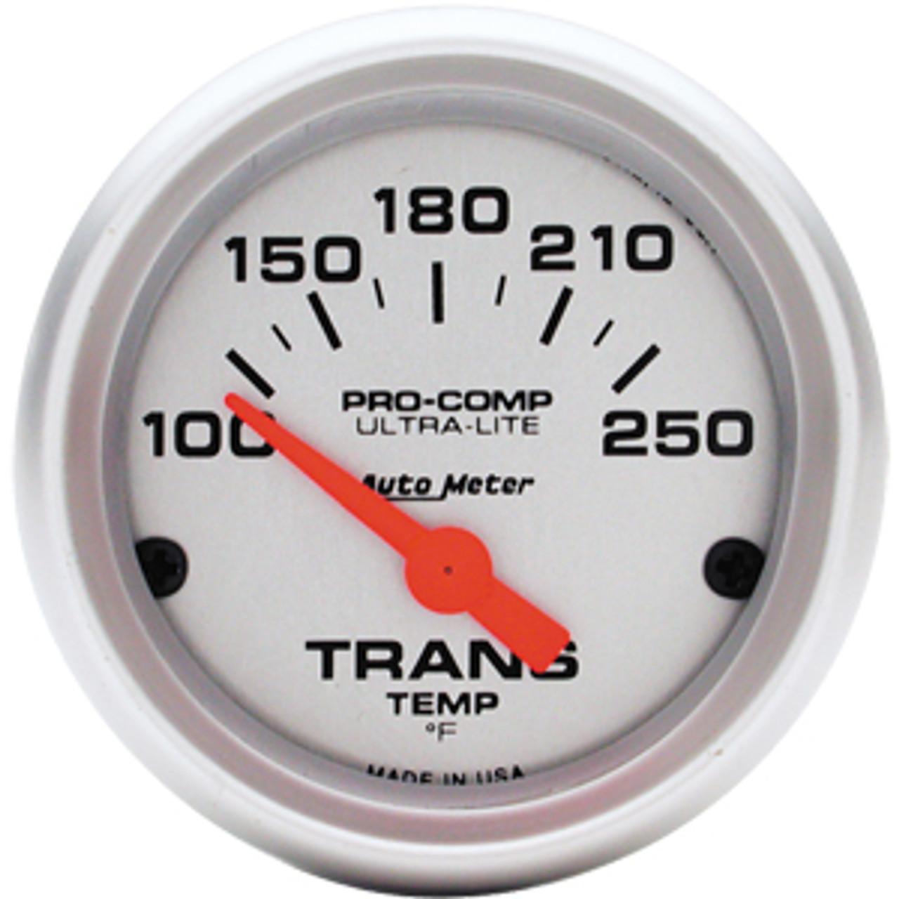Autometer Ultra-Lite Trans Temp, 100-250`F Elec, 2 1/6in