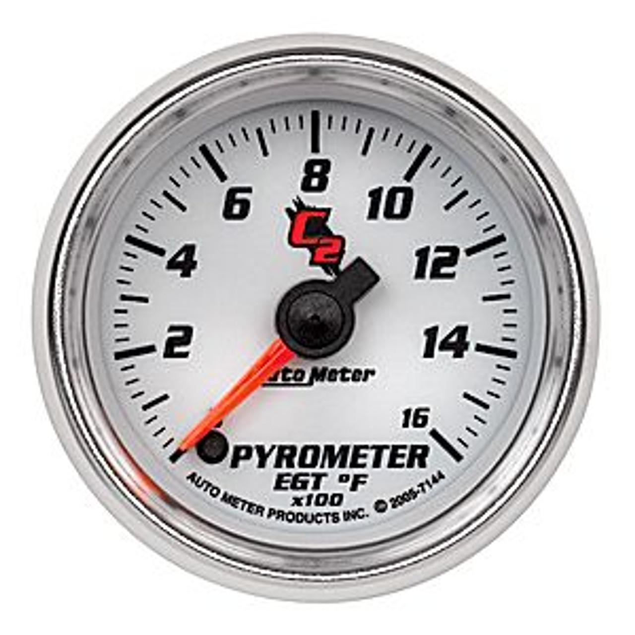 Autometer C2-2 Pyrometer, 0-1600`F, 2In.