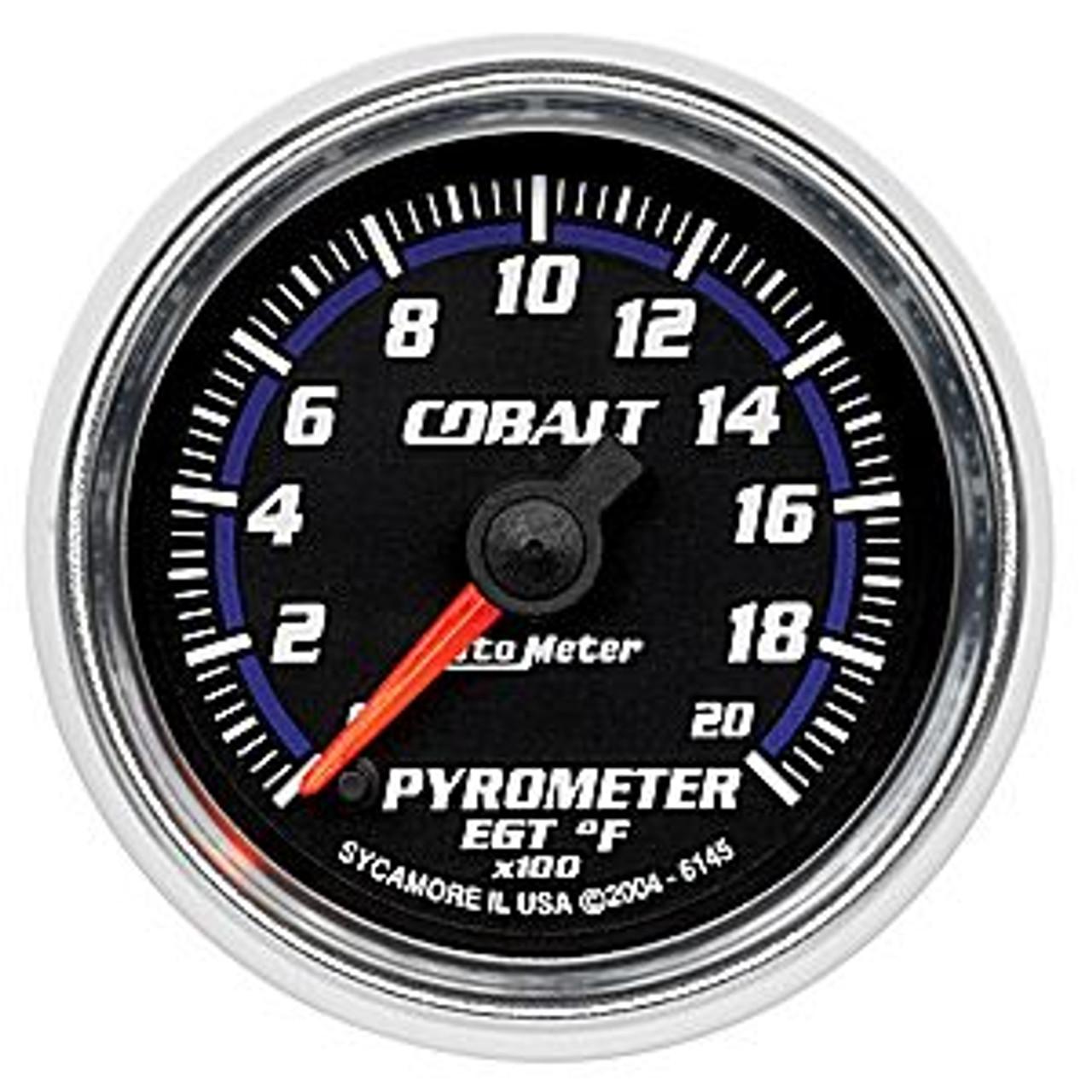 Autometer Cobalt Pyrometer, 0-2000`F, 2In.