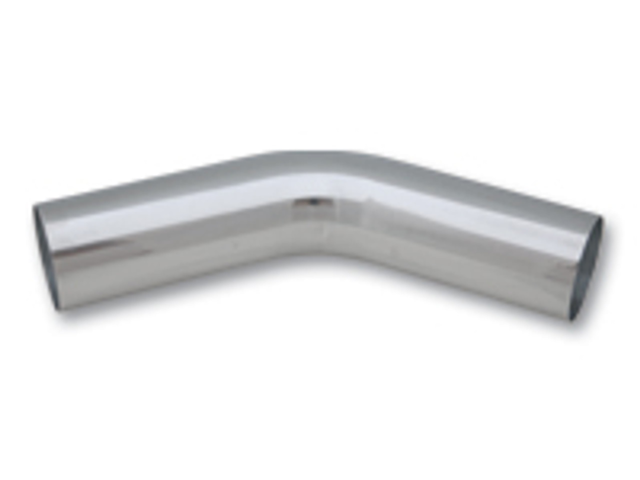 Vibrant 2.25in O.D. Universal Aluminum Tubing (45 degree bend) - Polished