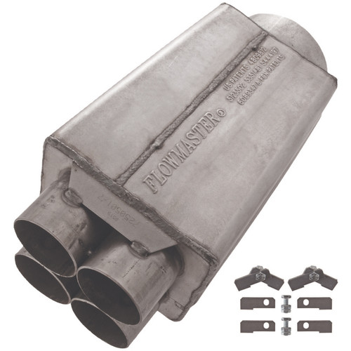 Flowmaster  Scavenger Series Collector Muffler - Short - 2.50 Primary / 5.00 Out