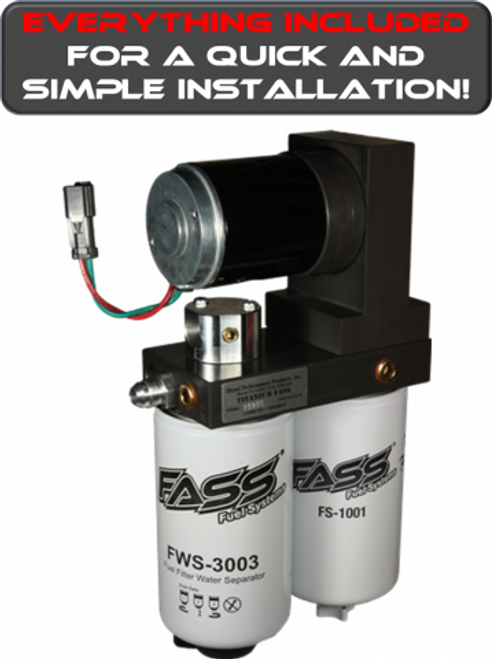 FASS 1999-2007 Ford Powerstroke 220 GPH Flow Rate 55PSI Titanium Series