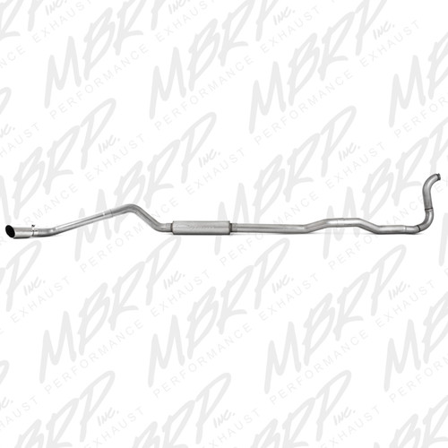 "1988-1993 Dodge 2500/3500 Cummins 4"" Turbo Back, Single Side Exit (4WD only), AL"