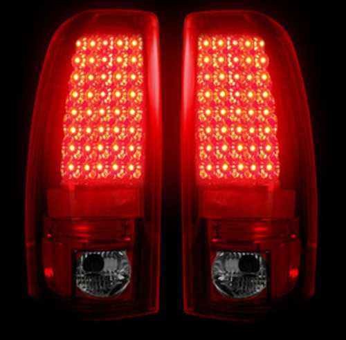 99-07 Chevy Silverado LED Tail Lights Dark Red Smoked