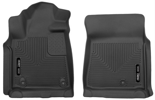 07-11 TUNDRA STD/EXT/CREW CAB FRONT FLOOR LINERS X-ACT CONTOUR SERIES BLACK