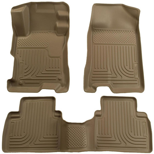07-12 ALTIMA ALL EXCEPT HYBRID VERSION WEATHERBEATER FRONT & 2ND SEAT FLOOR LINERS TAN