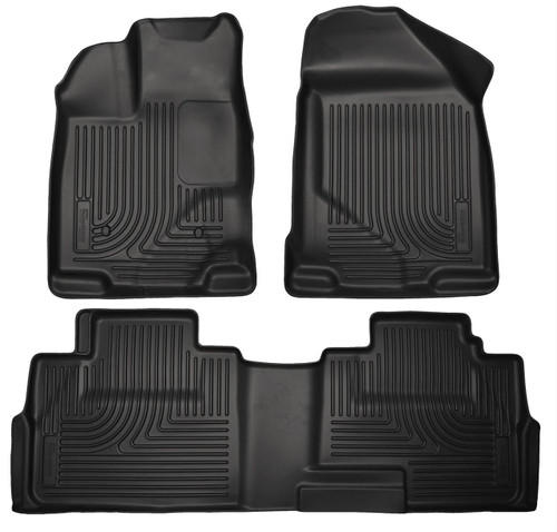 07-14 EDGE 07-15 MKX FRONT/2ND SEAT LINERS WEATHERBEATER BLACK