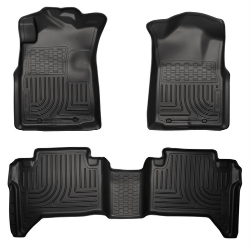 05-15 TACOMA CREW CAB WEATHERBEATER FRONT & 2ND SEAT FLOOR LINERS BLACK
