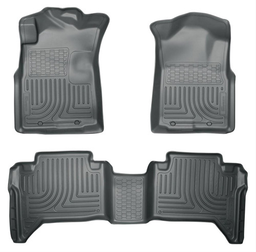 05-15 TACOMA CREW CAB WEATHERBEATER FRONT & 2ND SEAT FLOOR LINERS GREY