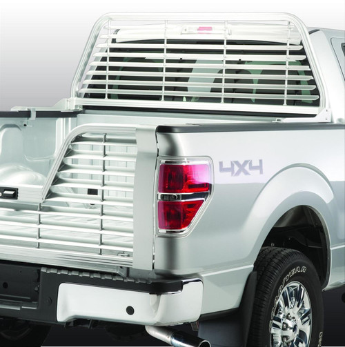 (NOT OVER THE RAIL CROSSBOX) 04-14 F150 SUNSHADE (WELDED) NO-DRILL MOUNT) SUNSHADE - ANODIZED ALUM