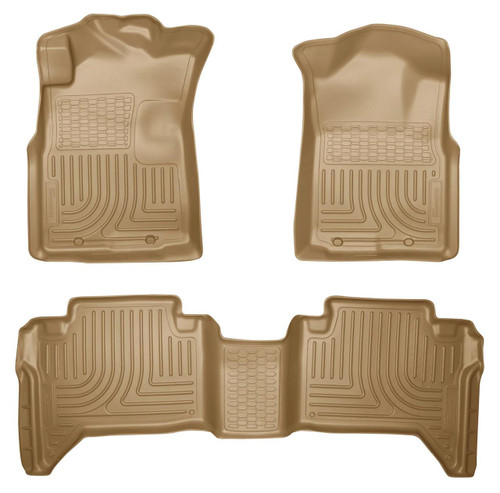 05-15 TACOMA CREW CAB WEATHERBEATER FRONT & 2ND SEAT FLOOR LINERS TAN