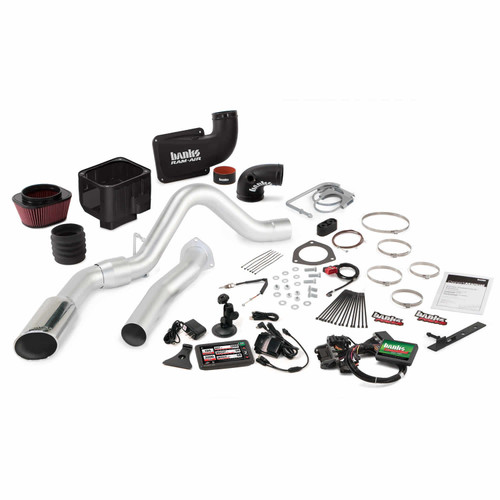Stinger Bundle Power System W/Single Exit Exhaust Chrome Tip 5 Inch Screen  07-10 Chevy 6 6L LMM ECSB-CCLB to Banks Power