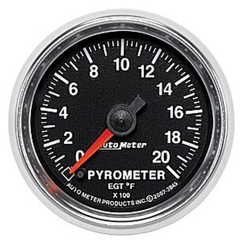 Autometer 2-1/16 In. Pyrometer, 0- 2000`F, Fse, Gs