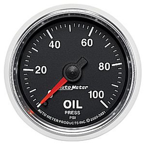 Autometer 2-1/16 In. Oil Press, 0-100 Psi, Mech, Gs