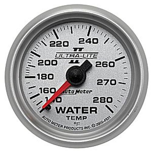Autometer Ultra-Lite 2 Water Temp 140-280, (Fs) M 2-1/16In.