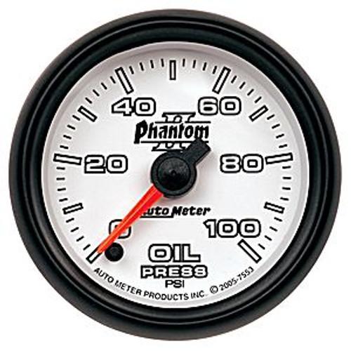 Autometer Phantom 2 Oil Pressure 0-100 Psi, (Fs) Elec 2-1/16In.