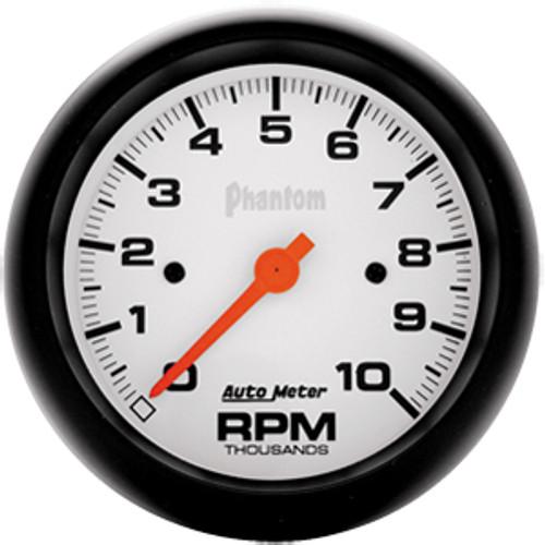 Autometer Phantom Tach, 10000 Rpm, In-Dash, Elec 3-3/8In