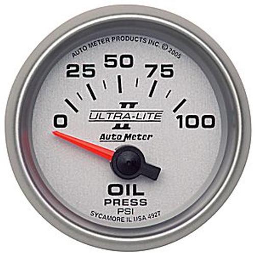 Autometer Ultra-Lite 2 Oil Press 0-100 Psi, (Ss) E 2-1/16In.