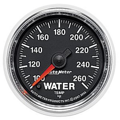Autometer 2-1/16 In. Water Temp, 100- 260`F, Fse, Gs