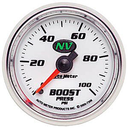Autometer Nv Boost, 0-100 Psi Mech, 2-1/16In.