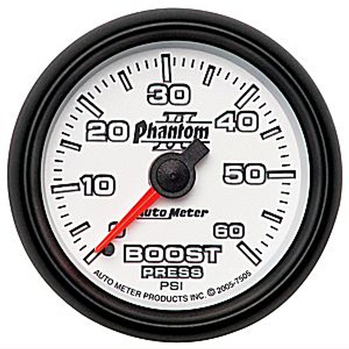 Autometer Phantom 2 Boost 0-60 Psi, (Fs) Mech 2-1/16In.