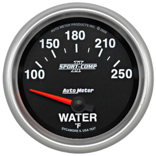 Autometer 2-5/8in WATER TEMP, 100- 250`F, SSE SPORT COMP II