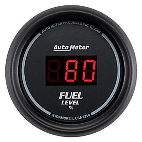 "Autometer Digital Black, 2-1/16"", Fuel Level, Programmable/Presets"
