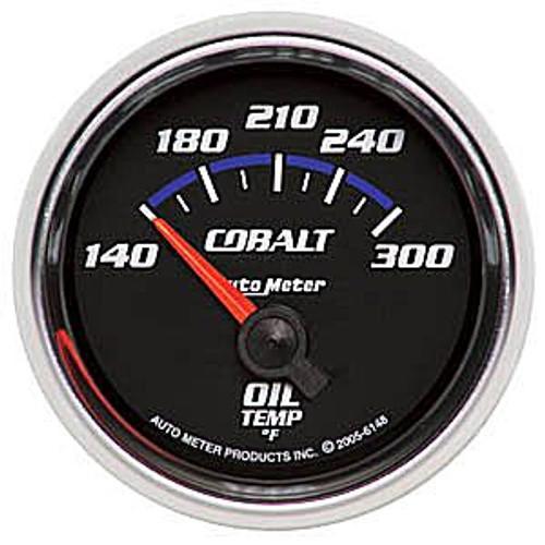 Autometer Cobalt Oil Temp, -140 300`F, Elec, 2-1/16In.