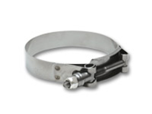 Vibrant SS T-Bolt Clamps Pack of 2 Size Range: 5.30in to 5.60in O.D.