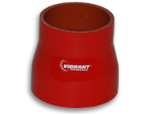 """Vibrant 4 Ply Reinforced Silicone Transition Connector 3.25""""x3.5""""x 3""""  (RED)"""
