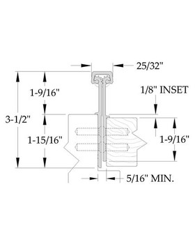"""ABH CONCEALED GEARED FULL MORTISE CONTINUOUS HINGE A111HD-95C 95"""""""