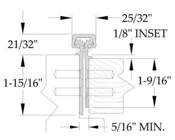 """ABH CONCEALED GEARED FULL MORTISE CONTINUOUS HINGE A111LL-95C 95"""""""