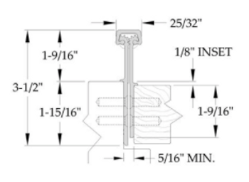"""ABH CONCEALED GEARED FULL MORTISE CONTINUOUS HINGE A111WTHD-95C   95"""""""