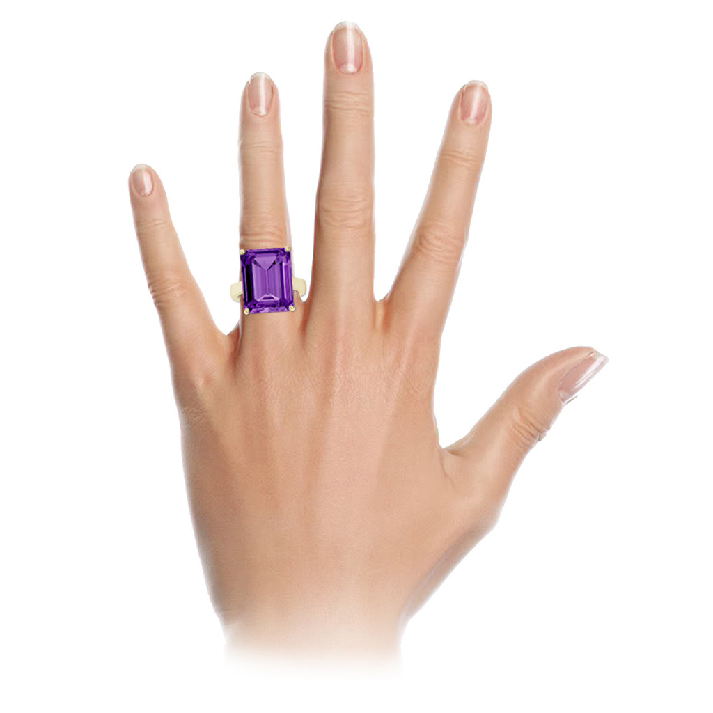 stylerocks-emerald-cut-amethyst-rose-gold-cocktail-ring-on-hand