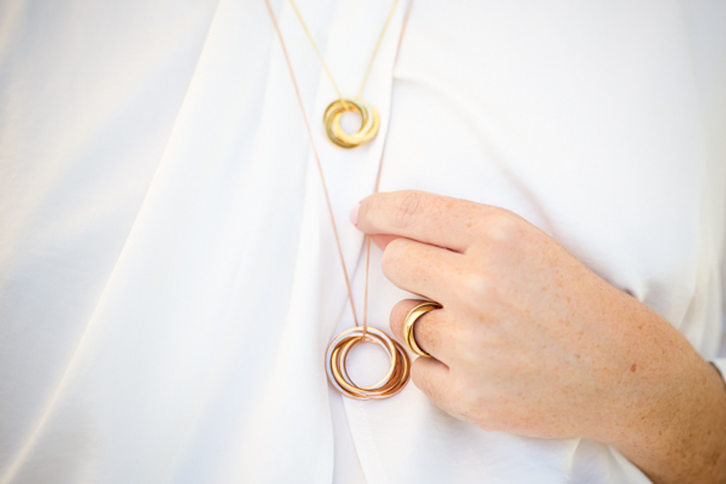 Russian Rings Necklace - the 'Cate'
