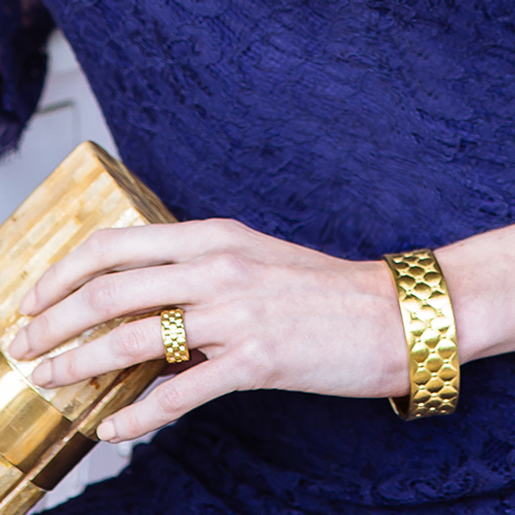lattice-diamond-ring-lattice-bangle-gold-stylerocks