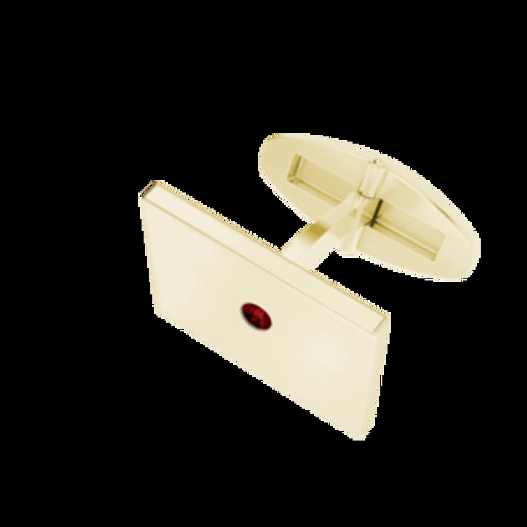 rectangular-goldplate-cufflinks-january-garnet-birthstone