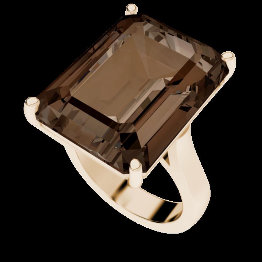 smoky-quartz-rose-gold-plated-cocktail-ring-stylerocks