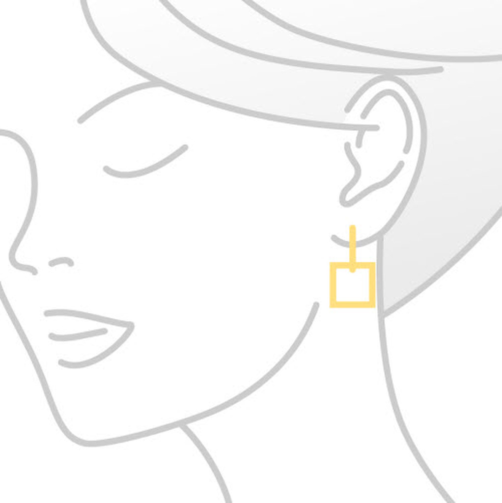 Pink Sapphire Yellow Gold Drop Earrings