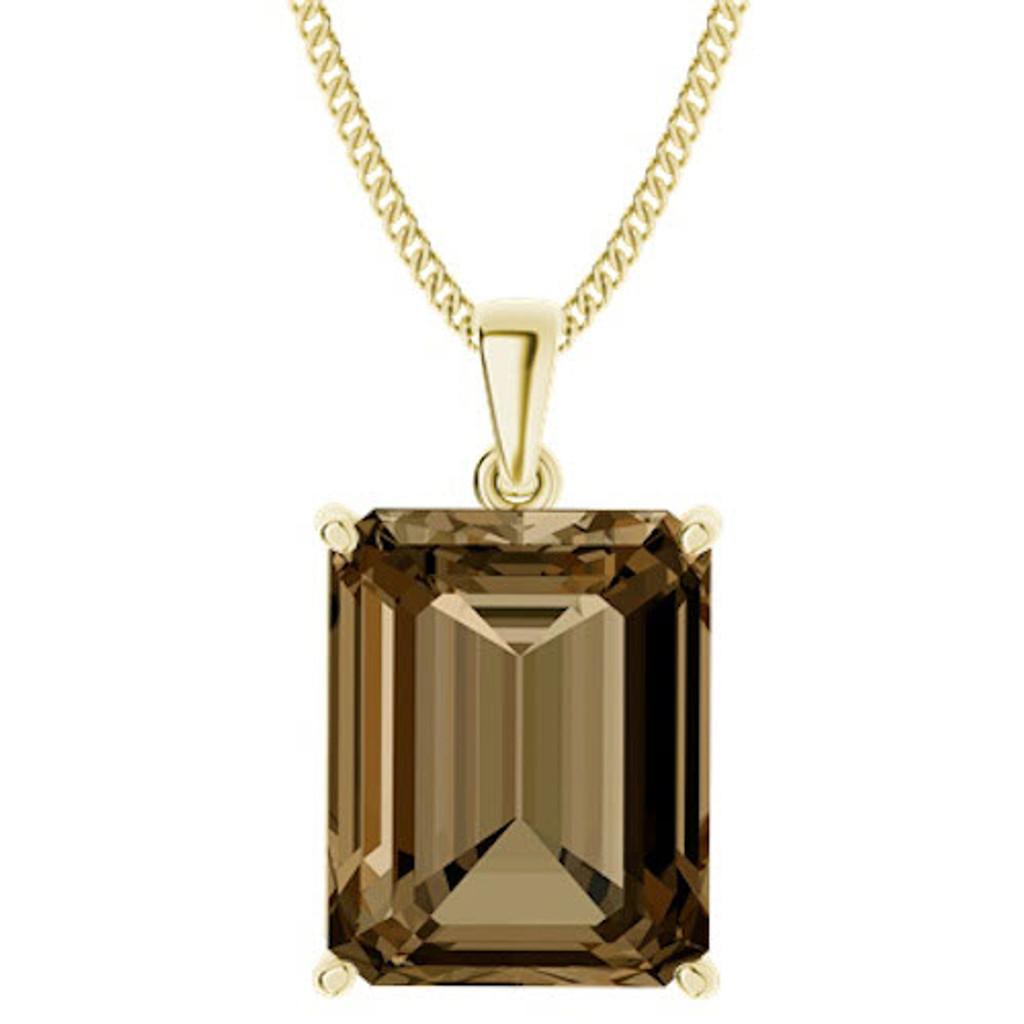 stylerocks-emerald-cut-10mm-smoky-quartz-9ct-yellow-gold-pendant